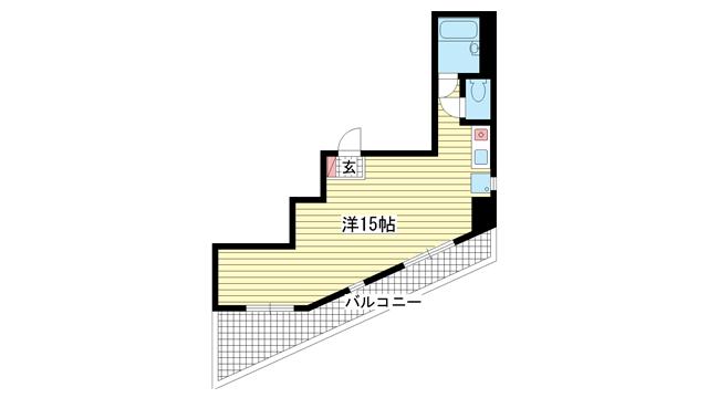 物件番号: 1025804027 アバンダン下山手  神戸市中央区下山手通6丁目 1R マンション 間取り図