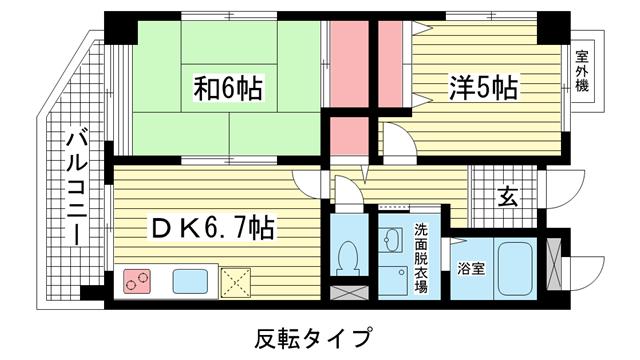 物件番号: 1025805582 井本マンション  神戸市中央区下山手通9丁目 2DK マンション 間取り図