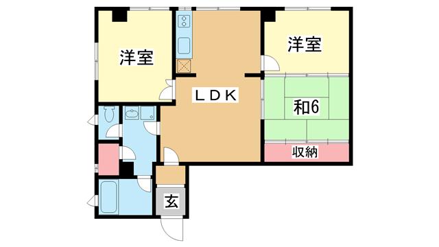 物件番号: 1025806812 北野タウンハウス  神戸市中央区山本通3丁目 3LDK マンション 間取り図