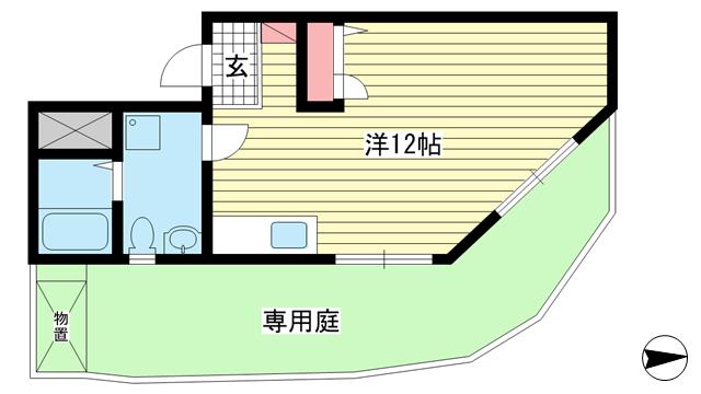 物件番号: 1025806821 ピソ・リベラ  神戸市兵庫区矢部町 1R マンション 間取り図
