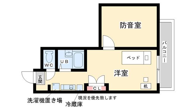 物件番号: 1025807721 神戸女子学生会館  神戸市東灘区向洋町中7 1R マンション 間取り図