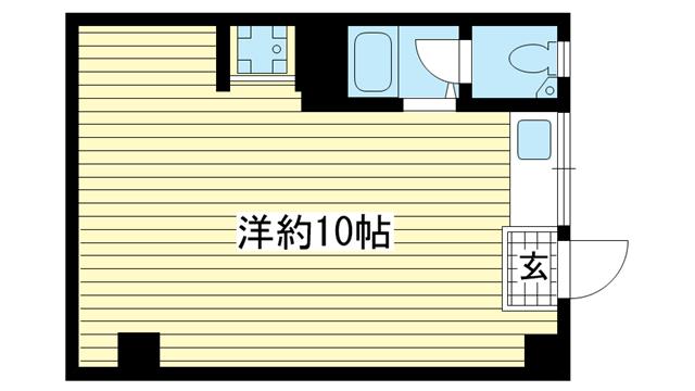 物件番号: 1025808824 エスペランス・ドゥ・花隈  神戸市中央区北長狭通6丁目 1R マンション 間取り図