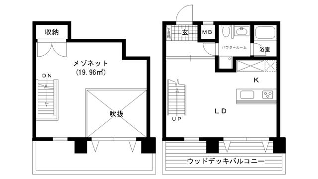 物件番号: 1025810588 WOB ROKKOHMICHI  神戸市灘区友田町3丁目 1LDK マンション 間取り図