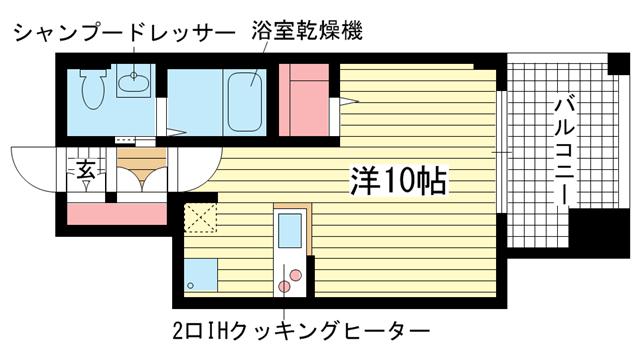 物件番号: 1025810600 サムティ三宮レガニール  神戸市中央区雲井通3丁目 1R マンション 間取り図