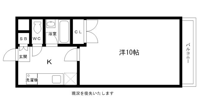 物件番号: 1025813554 AZUL-KOBEⅡ  神戸市兵庫区兵庫町2丁目 1K マンション 間取り図