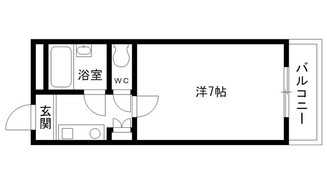 物件番号: 1025815039 サンハイツ学が丘  神戸市垂水区学が丘4丁目 1R マンション 間取り図