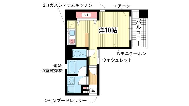 物件番号: 1025820287 メゾンアイリス  神戸市中央区下山手通6丁目 1R マンション 間取り図