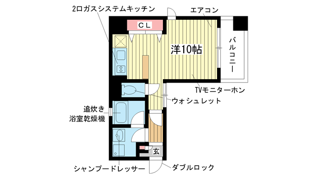 物件番号: 1025820290 メゾンアイリス  神戸市中央区下山手通6丁目 1R マンション 間取り図