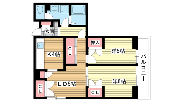 物件番号: 1025824932 昭和レジデンス  神戸市兵庫区矢部町 2LDK マンション 間取り図