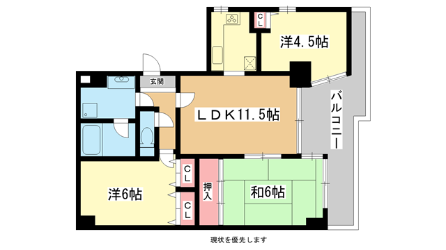 物件番号: 1025827581 サンビルダー北野弐番館  神戸市中央区加納町2丁目 3LDK マンション 間取り図