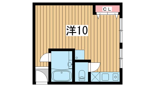 物件番号: 1025837805 グランディア北野異人館通  神戸市中央区北野町3丁目 1R マンション 間取り図