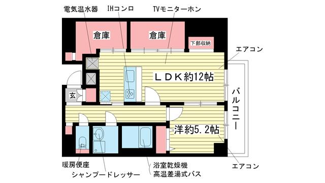 物件番号: 1025839375 マリス神戸  神戸市兵庫区中道通3丁目 1SLDK マンション 間取り図