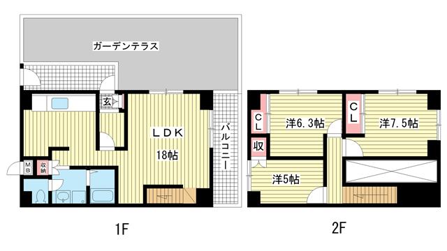 物件番号: 1025841474 昭和レジデンス  神戸市兵庫区矢部町 3LDK マンション 間取り図