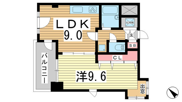 物件番号: 1025841859 イトーピア栄町通  神戸市中央区栄町通5丁目 1LDK マンション 間取り図