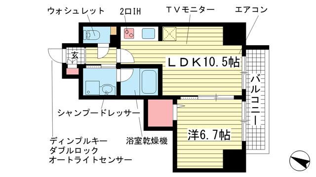 物件番号: 1025842490 ESTANCIA元町  神戸市中央区元町通3丁目 1LDK マンション 間取り図