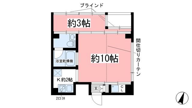 物件番号: 1025843877 Y'sHouse 三宮Ⅱ  神戸市中央区小野柄通3丁目 1R マンション 間取り図