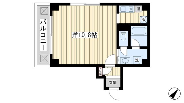 物件番号: 1025845780 シンプルライフ元町  神戸市中央区元町通4丁目 1K マンション 間取り図
