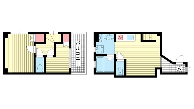 物件番号: 1025855637 万両ビル  神戸市中央区中山手通1丁目 2LDK マンション 間取り図