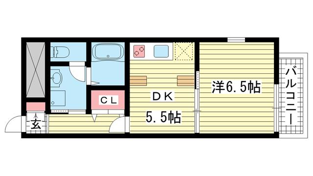 物件番号: 1025857215 マリス神戸WING  神戸市兵庫区兵庫町1丁目 1DK マンション 間取り図