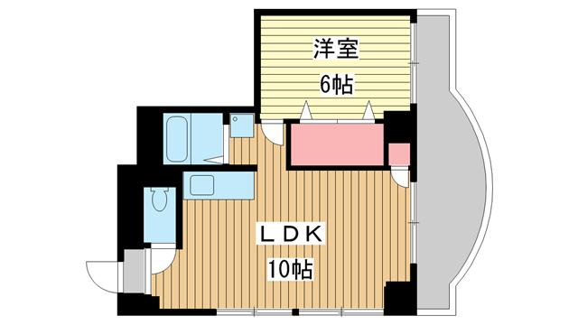 物件番号: 1025862708 シティライフ王子公園  神戸市灘区水道筋3丁目 1LDK マンション 間取り図