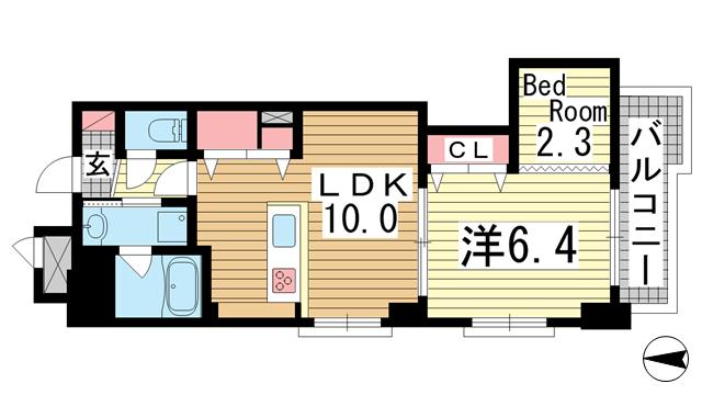 物件番号: 1025865833 ワコーレエキサイド岡本  神戸市東灘区岡本1丁目 1SLDK マンション 間取り図