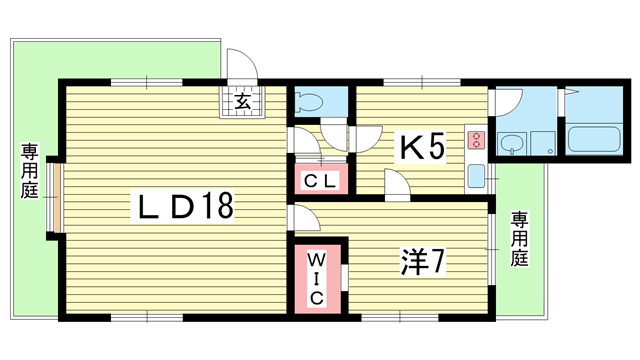 物件番号: 1025865973 コミュニティ熊内  神戸市中央区熊内町9丁目 1LDK ハイツ 間取り図