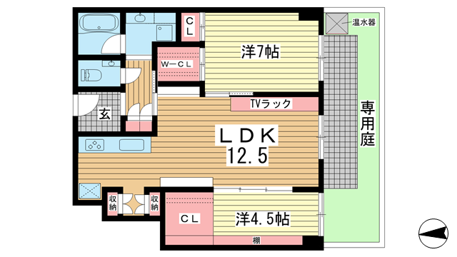物件番号: 1025866786 神戸元町ハイツ  神戸市中央区下山手通4丁目 2LDK マンション 間取り図