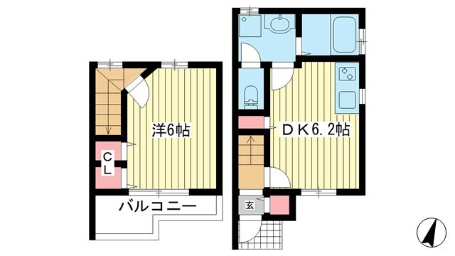 物件番号: 1025868242 ベラビータ  神戸市中央区中島通3丁目 1DK ハイツ 間取り図