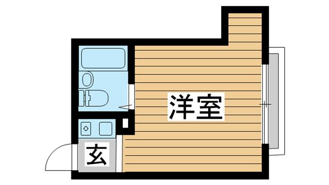 物件番号: 1025869398 サンビルダー北野山ノ手  神戸市中央区北野町2丁目 1R マンション 間取り図