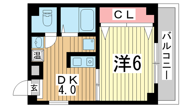 物件番号: 1025872197 レーベンハイム  神戸市中央区筒井町3丁目 1DK マンション 間取り図
