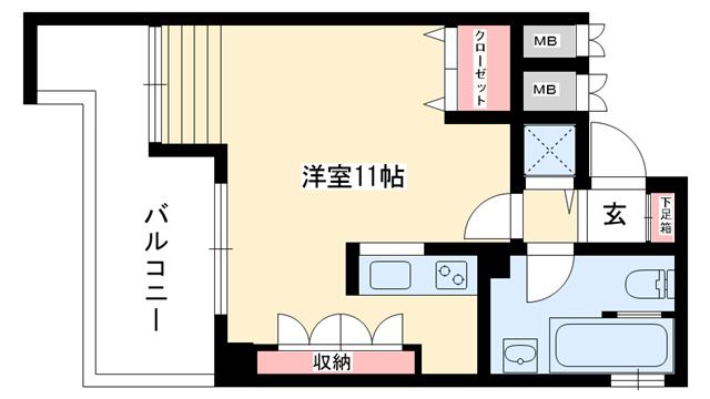 物件番号: 1025875351 オリエントコート  神戸市東灘区本山中町1丁目 1R マンション 間取り図