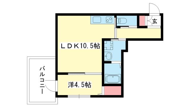 物件番号: 1025876653 NHエステート王子公園(旧:ハイム石塚  神戸市中央区大日通2丁目 2LDK マンション 間取り図