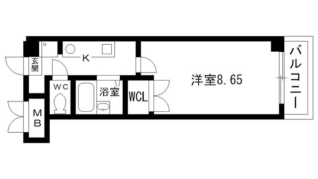 物件番号: 1025881038 アートプラザ神戸西  神戸市西区前開南町2丁目 1K マンション 間取り図