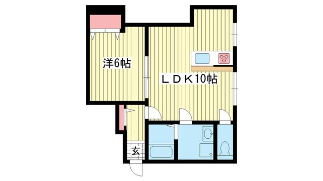 物件番号: 1025881702 Renostyle布引  神戸市中央区布引町2丁目 1LDK マンション 間取り図