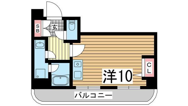 物件番号: 1025881708 エトワール山手KOYAMA  神戸市中央区加納町3丁目 1R マンション 間取り図