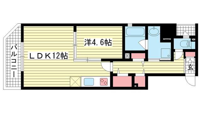 物件番号: 1025881738 マグノリア・トアロード  神戸市中央区中山手通2丁目 1LDK マンション 間取り図