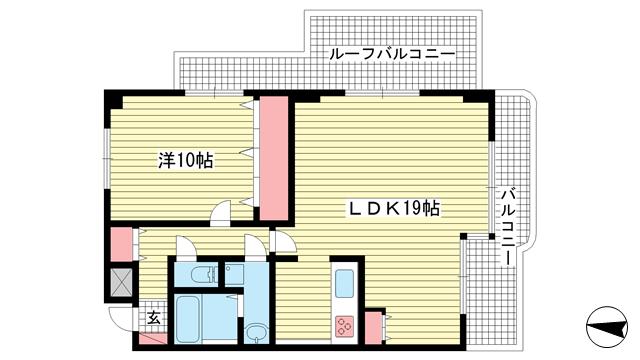 物件番号: 1025882087 藤和神戸北野町ホームズ  神戸市中央区北野町4丁目 1LDK マンション 間取り図