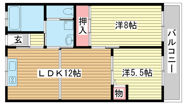 物件番号: 1025882446 MANSION YANO  神戸市中央区中山手通6丁目 2LDK マンション 間取り図