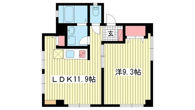 物件番号: 1025882749 佳山ビル  神戸市中央区栄町通5丁目 1LDK マンション 間取り図