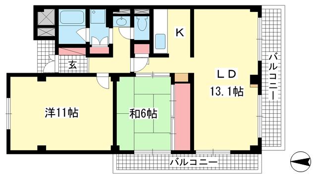 物件番号: 1025882864 ステラ北野町  神戸市中央区北野町2丁目 3SLDK マンション 間取り図