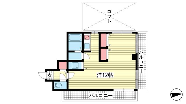 物件番号: 1025883397 サンビルダー王子公園  神戸市灘区王子町1丁目 1SK マンション 間取り図