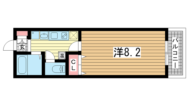物件番号: 1025883856 サンコーガルフタワー  神戸市中央区海岸通3丁目 1K マンション 間取り図