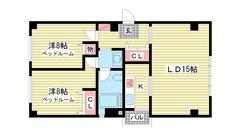第6スカイマンション 201の間取