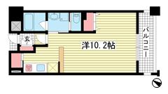 アーバネックス神戸駅前 405の間取