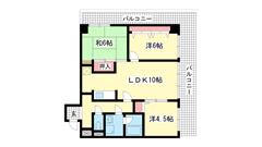 ライオンズマンション三宮東 206の間取