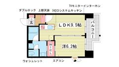 インベスト神戸エアフロント 907の間取