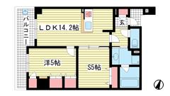 アパタワーズ神戸三宮 502の間取