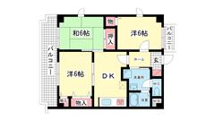 ライオンズマンション神戸西橘通 701の間取