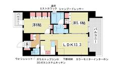 リーガル神戸三宮 1205の間取