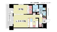 リーガル神戸三宮 1401の間取